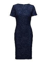 Lace Short-Sleeve Dress - INDIGO
