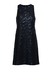 Sequined Sleeveless Dress - LIGHTHOUSE NAVY