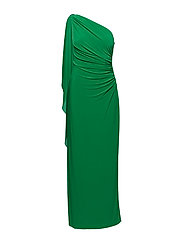 Georgette-Cape Gown - CAMBRIDGE GREEN
