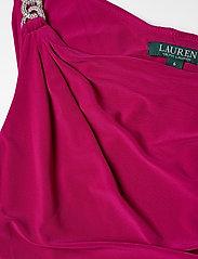 Lauren Ralph Lauren - Jersey One-Shoulder Gown - maxi sukienki - bright fuchsia - 2