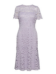 Lace Cocktail Dress - FRESH ORCHID