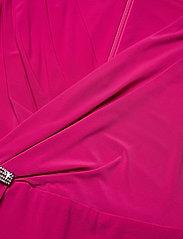 Lauren Ralph Lauren - Ruffle-Trim Jersey Gown - aruba pink - 3