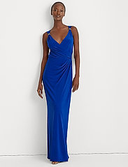 Lauren Ralph Lauren - Jersey Sleeveless Dress - aftenkjoler - portuguese blue - 0