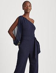 Lauren Ralph Lauren - Jersey One-Shoulder Jumpsuit - jumpsuits - lighthouse navy - 0