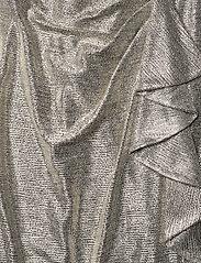 Lauren Ralph Lauren - Metallic Ruffle-Trim Gown - aftenkjoler - beige/gold - 3