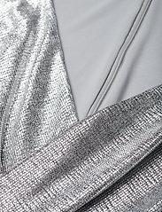 Lauren Ralph Lauren - Ruffle-Trim Metallic Gown - aftenkjoler - dark grey/silver - 2