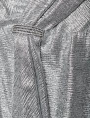 Lauren Ralph Lauren - Ruffle-Trim Metallic Gown - aftenkjoler - dark grey/silver - 3