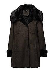 Paneled Faux-Shearling Jacket - LODEN
