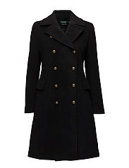 WOOL-WOOL COAT - BLACK
