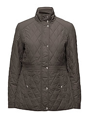 Quilted Mockneck Jacket - GREY