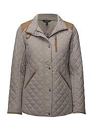 Quilted Mockneck Jacket - CORK