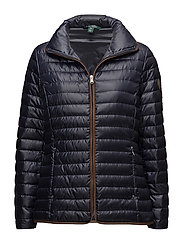 PEARL SHEEN-SYNTHETIC COAT - DARK NAVY