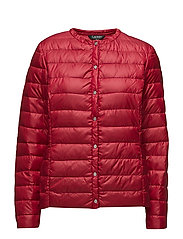 PEARL SHEEN-SYNTHETIC COAT - HERITAGE RED