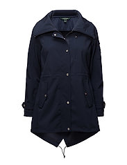 POLYESTER/NYLON-SYNTHETIC COAT - NAVY
