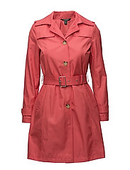 Cotton-Blend Belted Trench