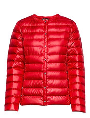 PEARL SHEEN-COLLARLESS PACKABLE - RED