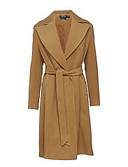 WOOL CASHMERE BLEND-SOLID WOOL WRAP - VICUNA