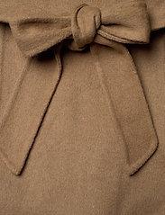 Lauren Ralph Lauren - DOUBLE FACE WOOL-DF WOOL WRAP - uldfrakker - dark camel - 4