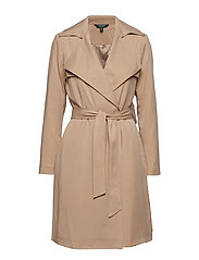 TENCEL-DRAPE LAPEL TC WRAP - LIGHT TAN