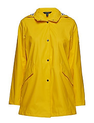 SLICKER-PU SLICKER W/AT HOOD - WARM YELLOW