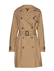 Cotton-Blend Trench Coat - SAND