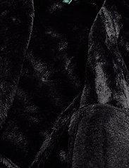 Lauren Ralph Lauren - POLYESTER-FAUX SHEARLING MOTO - nahkatakit - black - 5