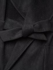 Lauren Ralph Lauren - Wool-Blend Wrap Coat - uldfrakker - black - 3