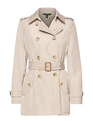 FAUX MEMORY-SOFT TAFFETA TRENCH - BIRCH
