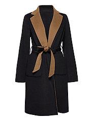 Reversible Wool-Blend Coat - DARK NAVY/NEW VIC