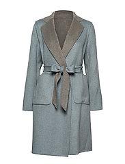 Lauren Ralph Lauren - Reversible Wool-Blend Coat - uldfrakker - grey/blue - 4