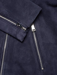 Lauren Ralph Lauren - Leather Moto Jacket - leather jackets - deep cobalt - 4