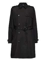 Taffeta Trench Coat - BLACK