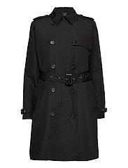 Taffeta Trench Coat - BLACK