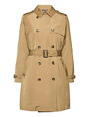 Taffeta Trench Coat - SAND