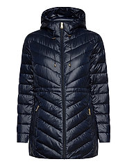 Packable Down Anorak Coat - NAVY