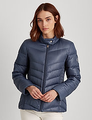 Lauren Ralph Lauren - Down Moto Jacket - doudounes - slate blue - 0