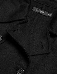 Lauren Ralph Lauren - Wool-Blend Trench Coat - uldfrakker - black - 4