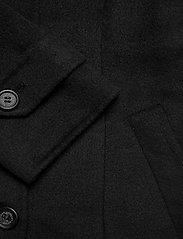Lauren Ralph Lauren - Wool-Blend Trench Coat - uldfrakker - black - 5