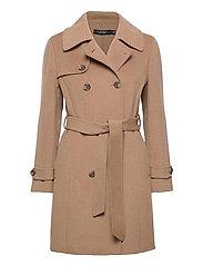 Wool-Blend Trench Coat - KHAKI