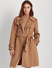 Lauren Ralph Lauren - Wool-Blend Trench Coat - uldfrakker - khaki - 0