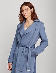 Lauren Ralph Lauren - Wrap-Style Duster Coat - trenchcoats - slate blue - 0