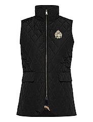 Quilted Crest Vest - BLACK