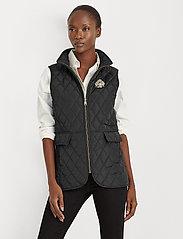 Lauren Ralph Lauren - Quilted Crest Vest - puffer vests - black - 0