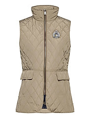 Quilted Crest Vest - TAUPE