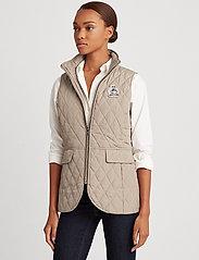 Lauren Ralph Lauren - Quilted Crest Vest - puffer vests - taupe - 0