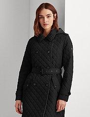 Lauren Ralph Lauren - Quilted Trench Coat - quiltede jakker - black - 0