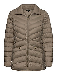 Packable Quilted Down Jacket - TAUPE