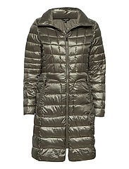 Quilted Mockneck Coat - PEWTER