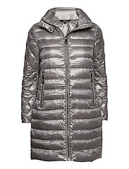 Packable Quilted Down Coat - SILVER