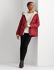 Lauren Ralph Lauren - Hooded Down Coat - forede jakker - chili - 0